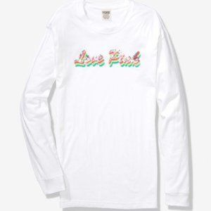 PINK BY VICTORIA'S SECRET LONG SLEEVE CAMPUS TEES